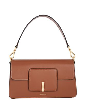 Georgia Leather Shoulder Bag, BROWN, hi-res