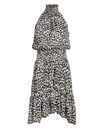 Cody Leopard Crepe Dress, WHITE/BLACK LEOPARD, hi-res