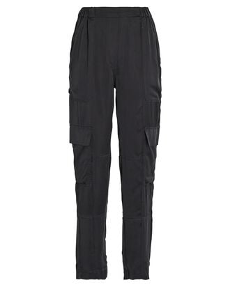 Satin Twill Cargo Pants, BLACK, hi-res
