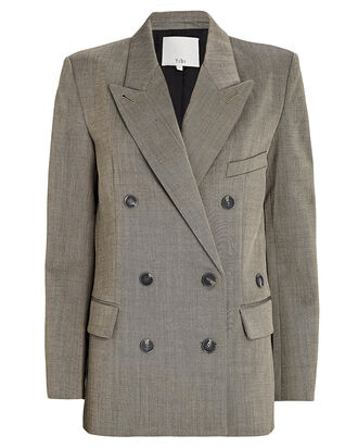 Luka Double-Breasted Suiting Blazer, GREY, hi-res