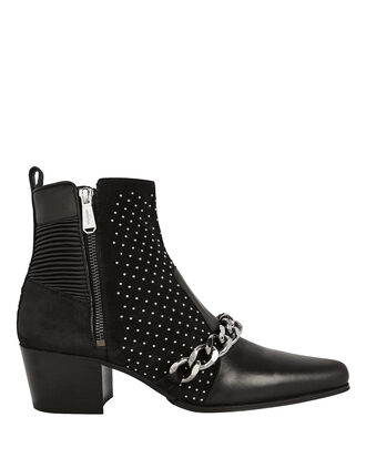 Ella Studded Booties, BLACK, hi-res