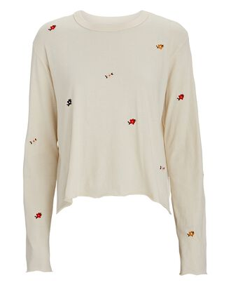 The Long Sleeve Crop T-Shirt, IVORY, hi-res