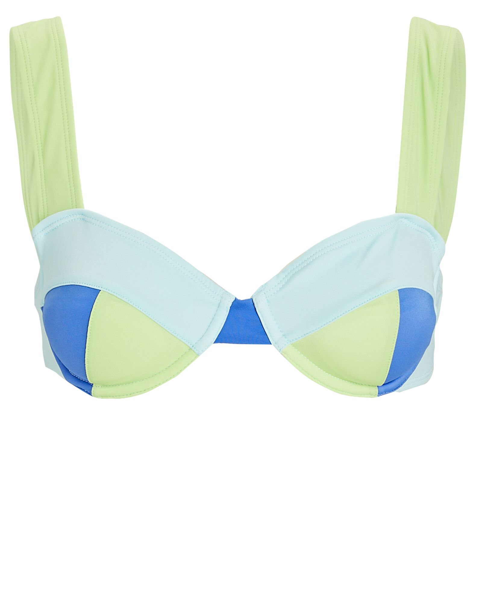 Lilo Colorblock Bikini Top, LIGHT GREEN/BLUE, hi-res