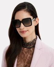 Square Strass Logo Sunglasses, BLACK, hi-res