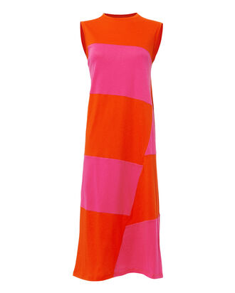 Dove Colorblock Midi Dress, PINK, hi-res