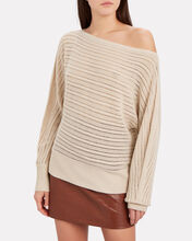 Louise Off-The-Shoulder Cashmere Sweater, BLUSH, hi-res