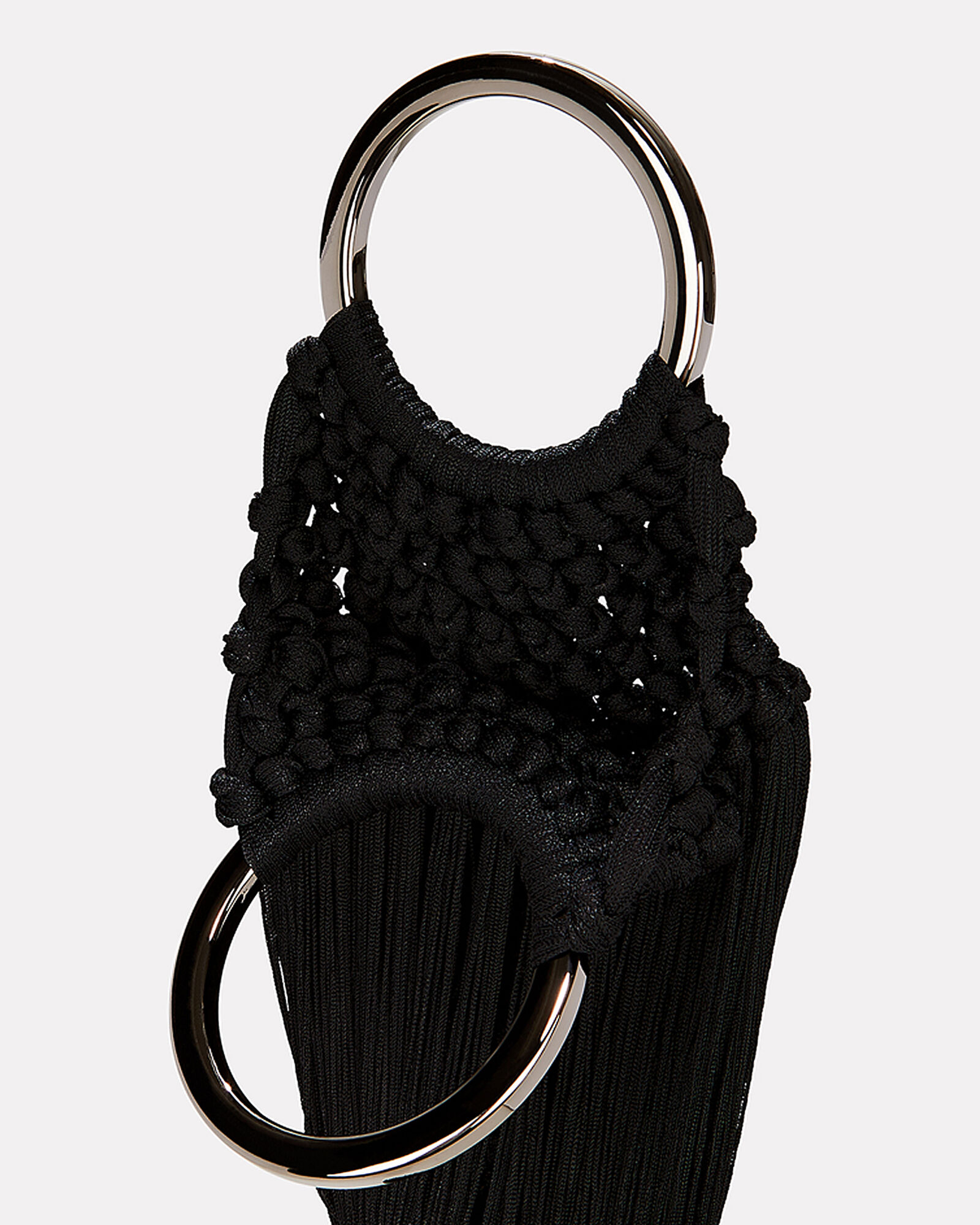 Angelou Braided Tassel Bag, BLACK, hi-res