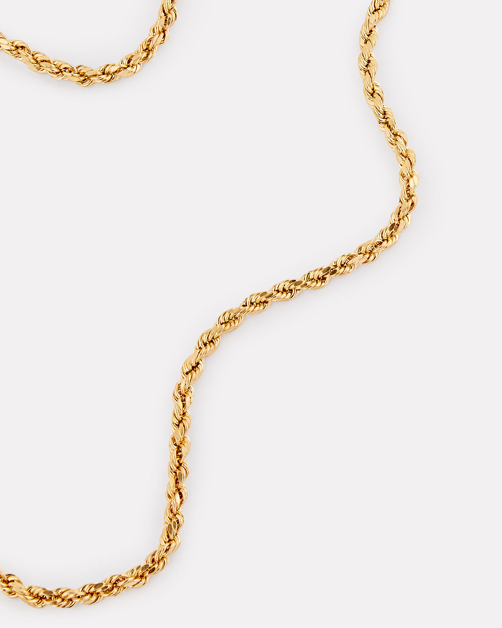 Rope Chain Necklace, GOLD, hi-res