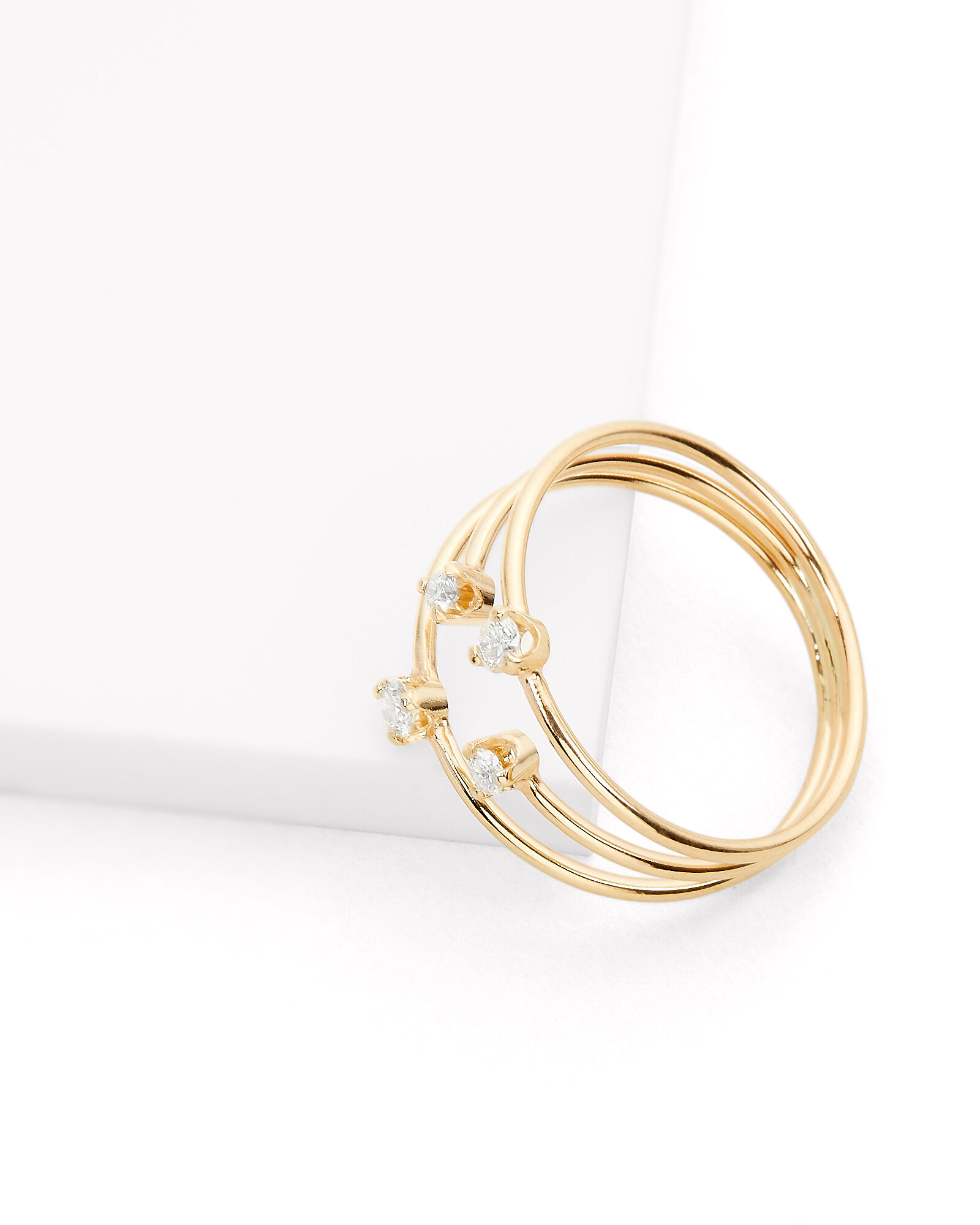 Three Diamond Ring, GOLD, hi-res