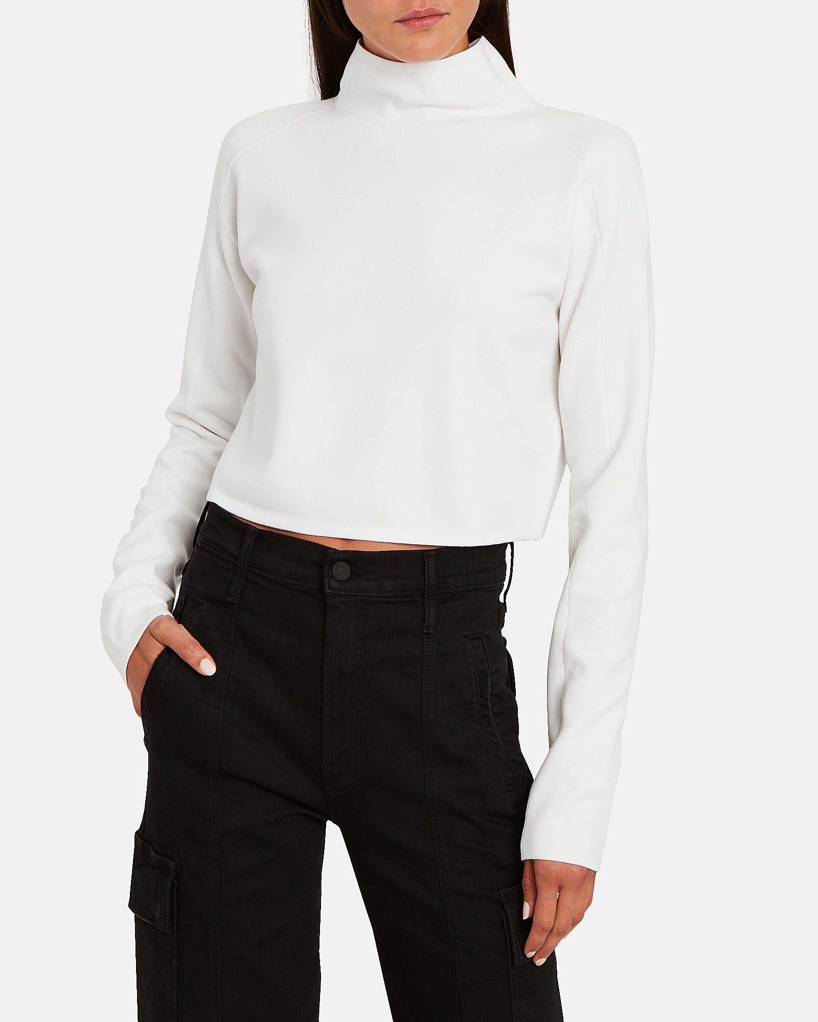 Compact Wool Turtleneck Sweater, PORCELAIN WHITE, hi-res
