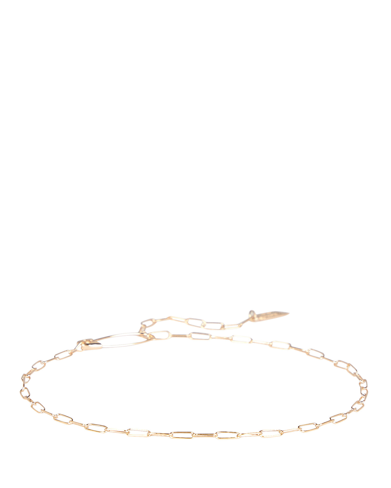 Saftey Pin Chain Bracelet, GOLD, hi-res
