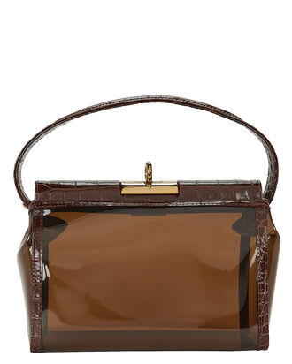 Water Translucent Shoulder Bag, BROWN, hi-res