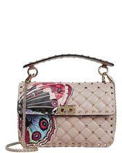 Quilted Rockstud Camubutterfly Bag, BLUSH, hi-res