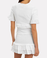 Avelina Smocked Dress, WHITE, hi-res