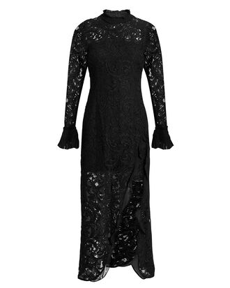 Fala Lace Midi Dress, BLACK, hi-res