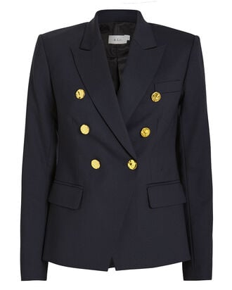 Hastings Double Breasted Blazer, NAVY, hi-res