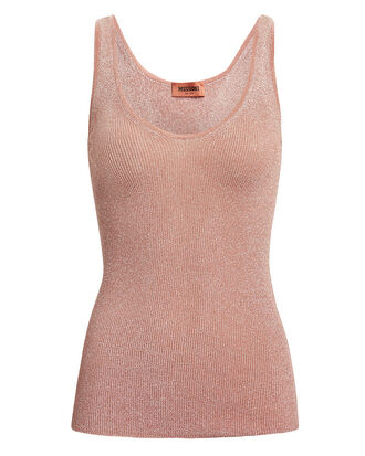 Blush Lurex Tank, BLUSH, hi-res