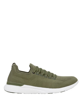 TechLoom Breeze Army Green Sneakers, GREEN, hi-res