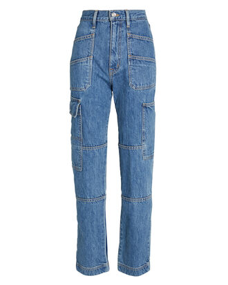 Savior High-Rise Cargo Jeans, , hi-res