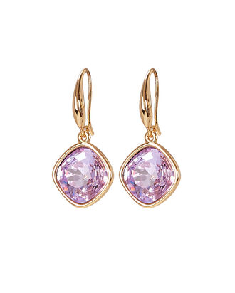 Crystal Drop Earrings, LILAC/GOLD, hi-res