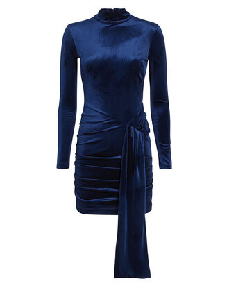 Marlinna Corded Velvet Dress, SAPPHIRE, hi-res