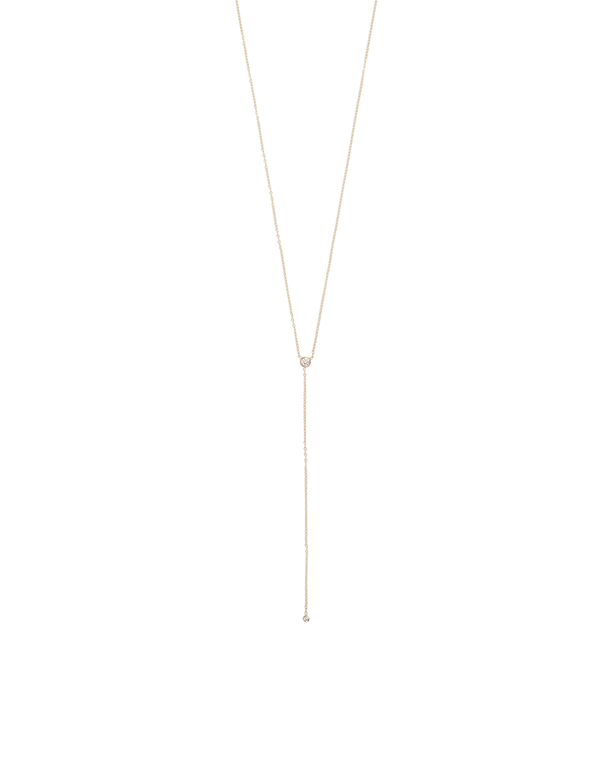 Diamond Lariat Necklace, GOLD, hi-res