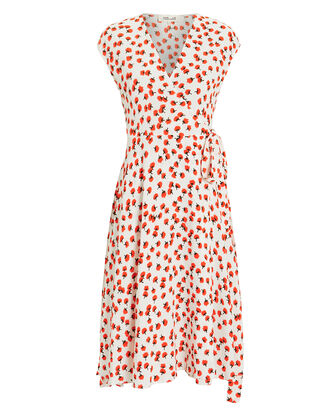 Goldie Wrap Dress, WHITE/FLORAL, hi-res