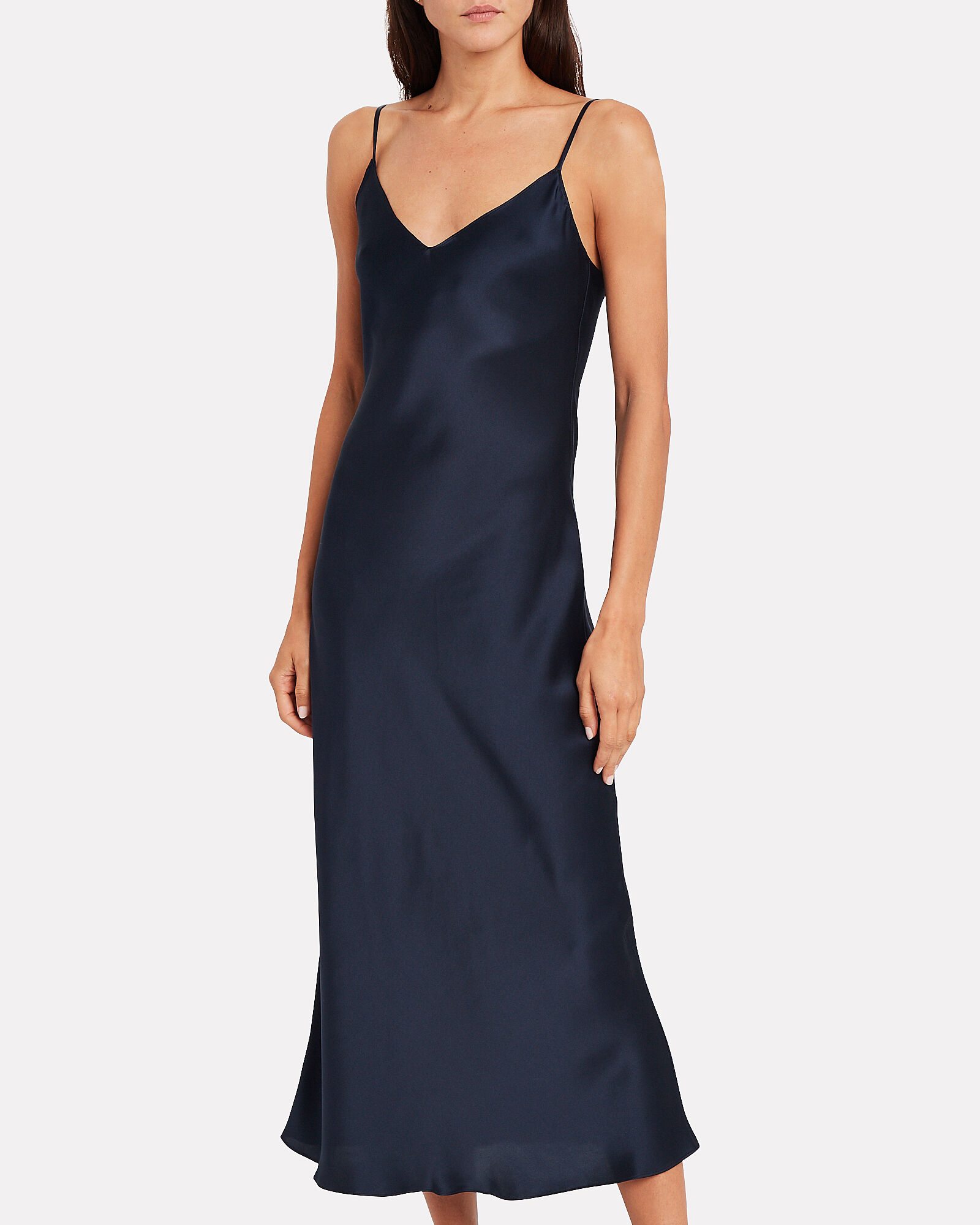 Taylor Silk Slip Dress, NAVY, hi-res
