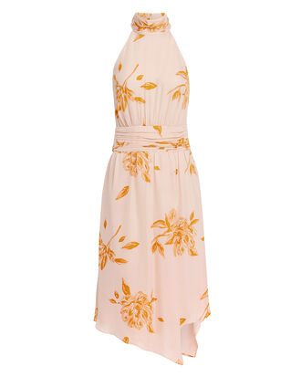Kehlani Floral Midi Dress, BLUSH/TANGERINE, hi-res
