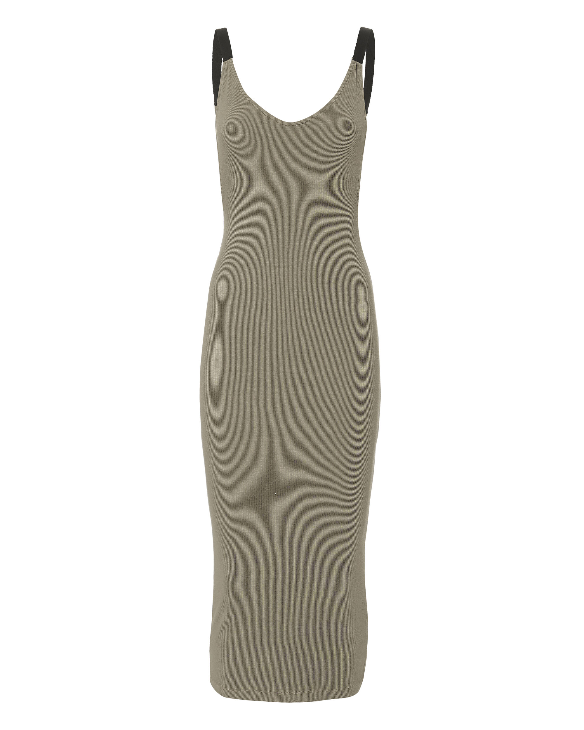 Gia Military Ribbed Dress, OLIVE/ARMY, hi-res