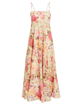 Honour Linen Floral Dress, IVORY/FLORAL, hi-res