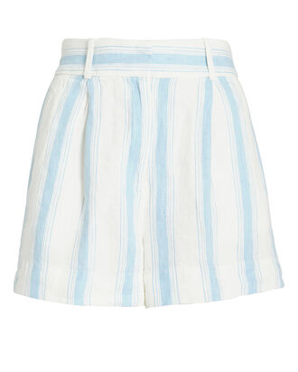 Striped Linen Shorts, IVORY/STRIPES, hi-res