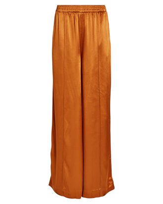 TiljaGZ Satin Wide Leg Trousers, BURNT ORANGE, hi-res