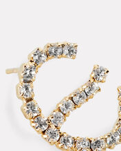 E Lettere Crystal Initial Earring, GOLD, hi-res