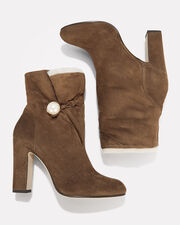 Bethanie Shearling Booties, BROWN, hi-res