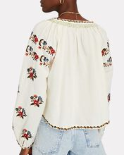 The Passage Embroidered Blouse, IVORY, hi-res
