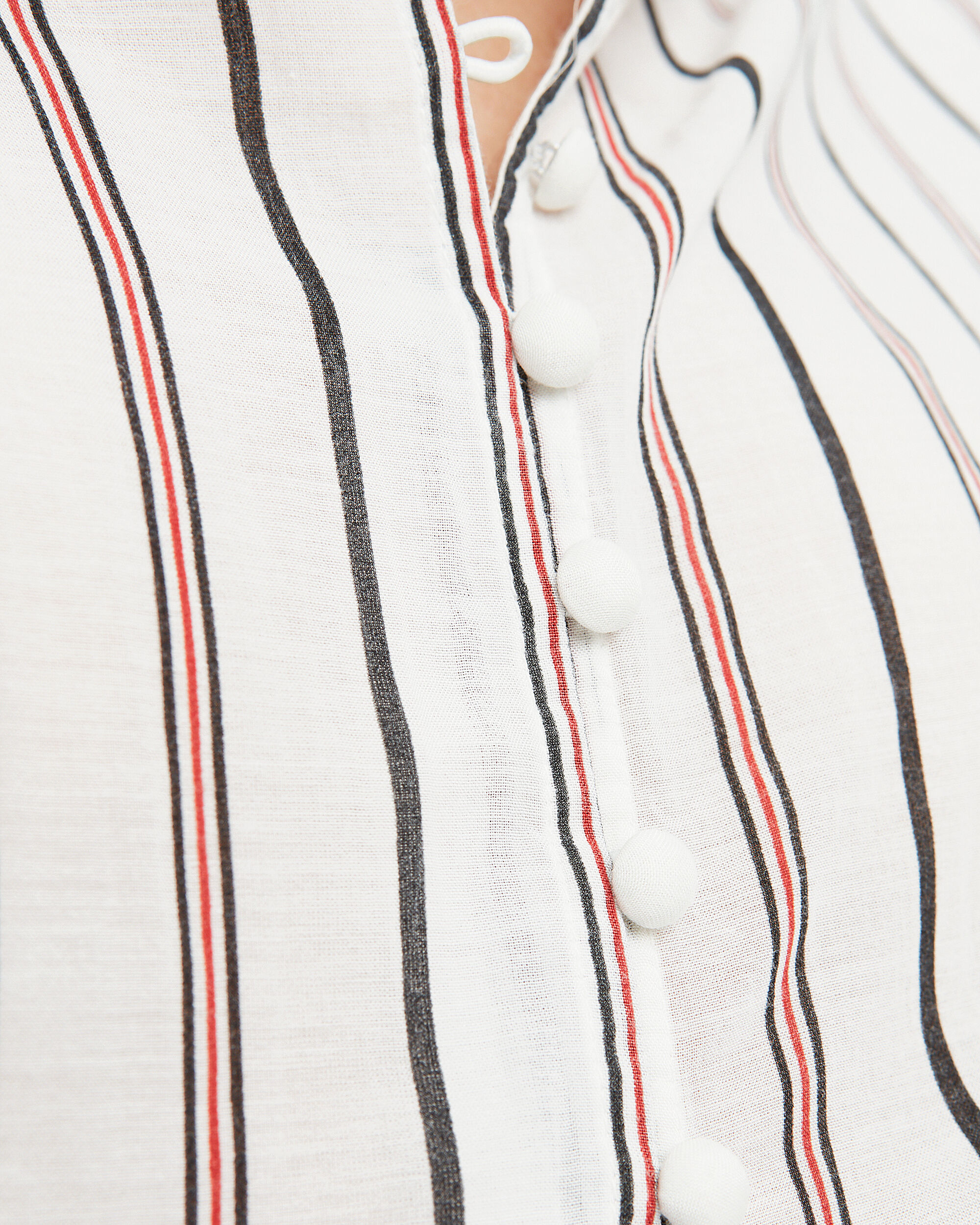 Minya Stripe Blouse, RED/WHITE/BLACK/STRIPES, hi-res
