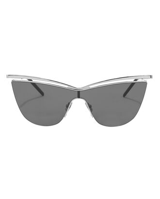 Brow Bar Metal Cat Eye Sunglasses, SILVER, hi-res