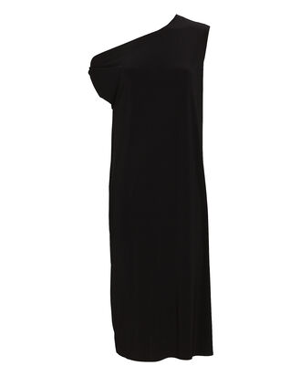 Drop Shoulder Jersey Midi Dress, BLACK, hi-res