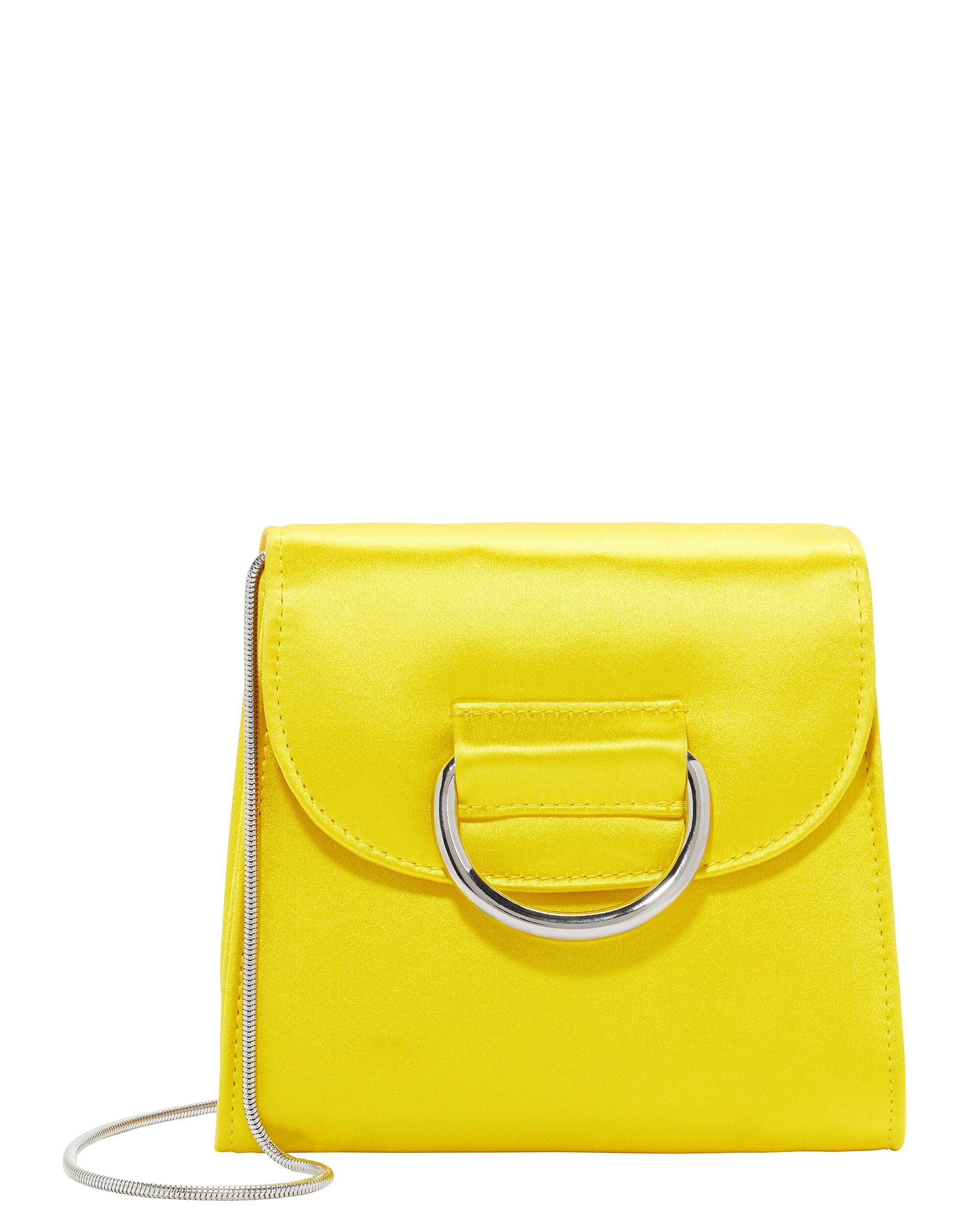 Tiny Box Satin Yellow Bag, YELLOW, hi-res