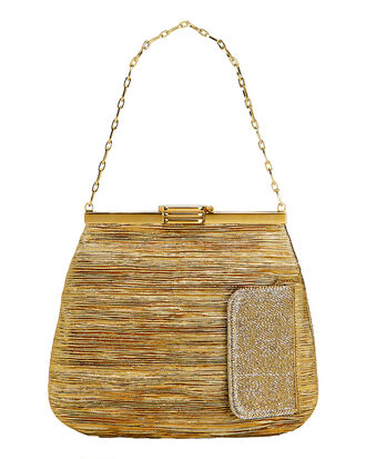 4AM Lurex Gold Chain Clutch Bag, GOLD, hi-res