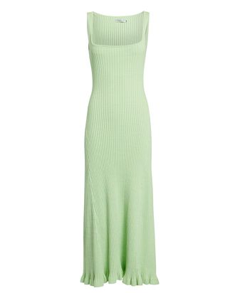 Dido Rib Knit Midi Dress, LIGHT GREEN, hi-res