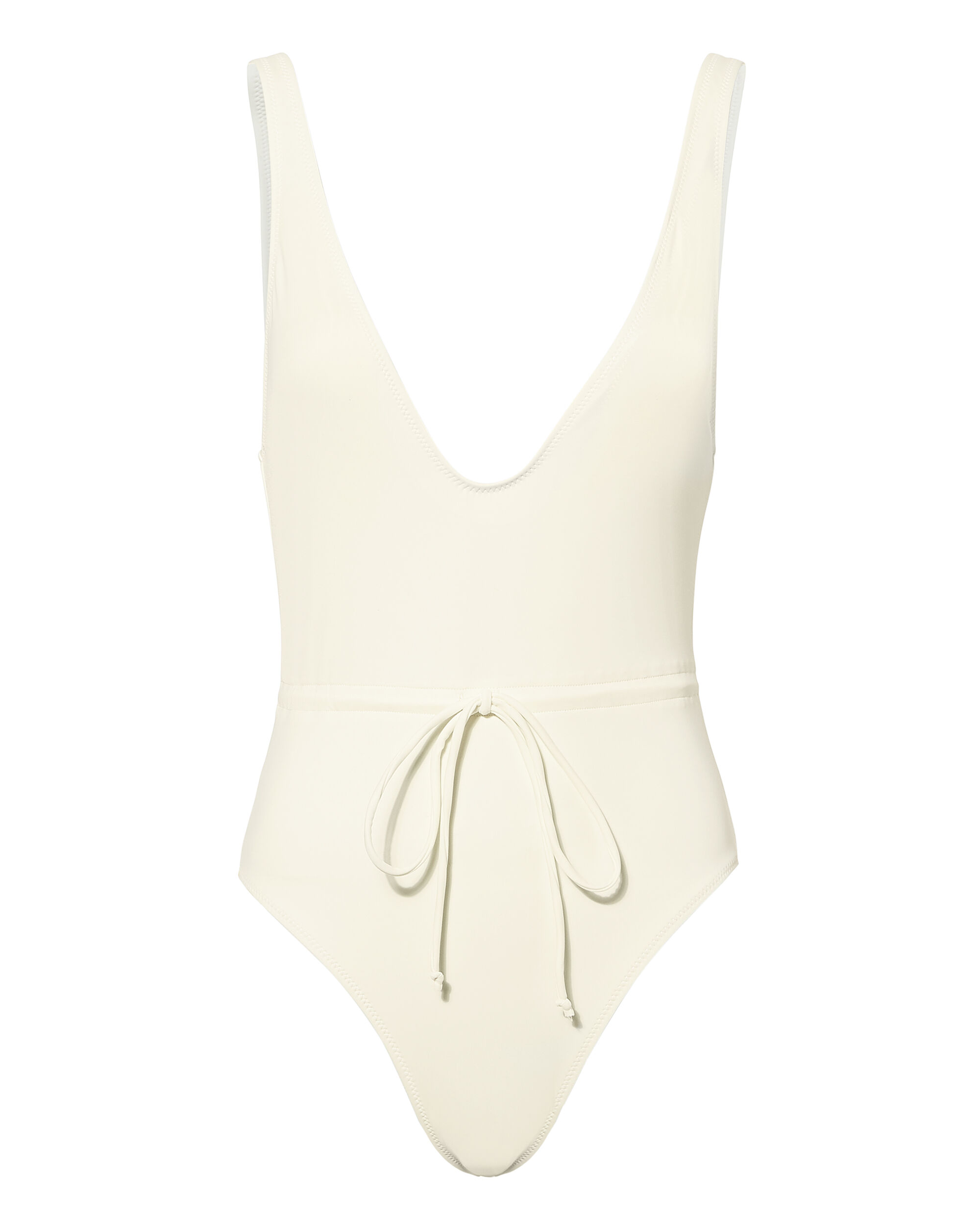 The Michelle Tie One Piece Swimsuit, WHITE, hi-res