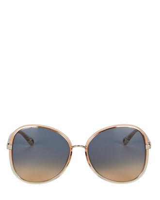 Oversized Butterfly Gradient Sunglasses, MULTI, hi-res