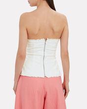 Give Me Love Strapless Top, WHITE, hi-res