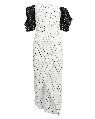 Layla Midi Dress, BLACK/WHITE, hi-res