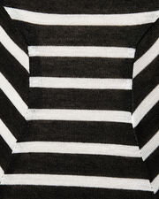 New Scoop Striped Bodysuit, BLK/WHT, hi-res