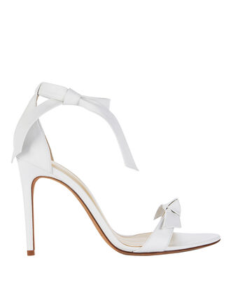 Clarita 100 Leather Sandals, WHITE, hi-res