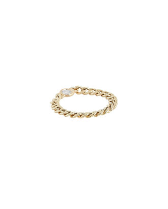 Floating Diamond Curb Chain Ring, GOLD, hi-res
