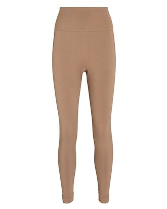 Seamless High-Rise Leggings, BEIGE, hi-res